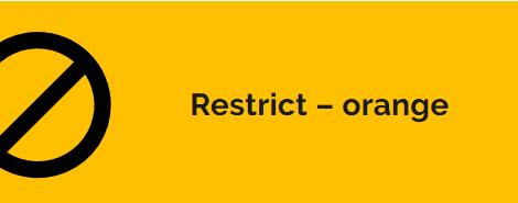 Restrict Orange Guidelines for Niagara Region