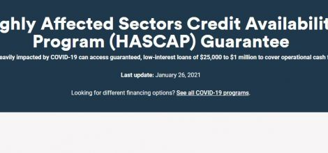 HASCAP - Highly Affected Sectors Credit Availability Program